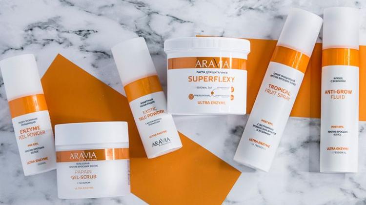 Серия ARAVIA Professional Ultra Enzyme для кожи со склонностью к врастанию волос после шугаринга
